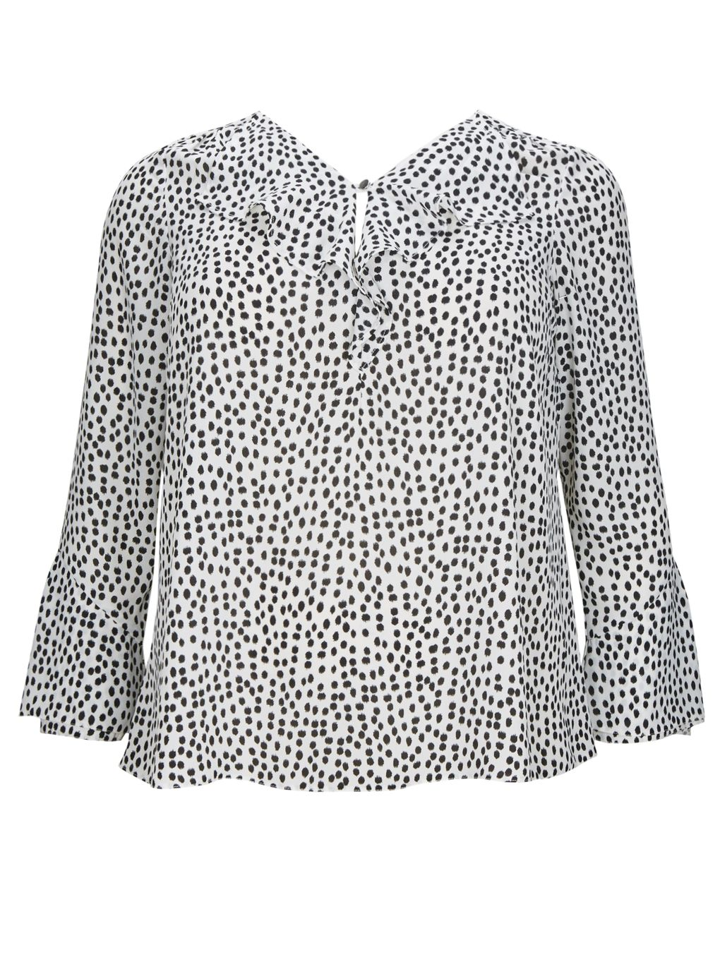 Smudge Spot Frill Front Top